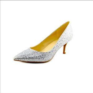 Marc Fisher MILEE Silver Metallic Heels. Size 8.5